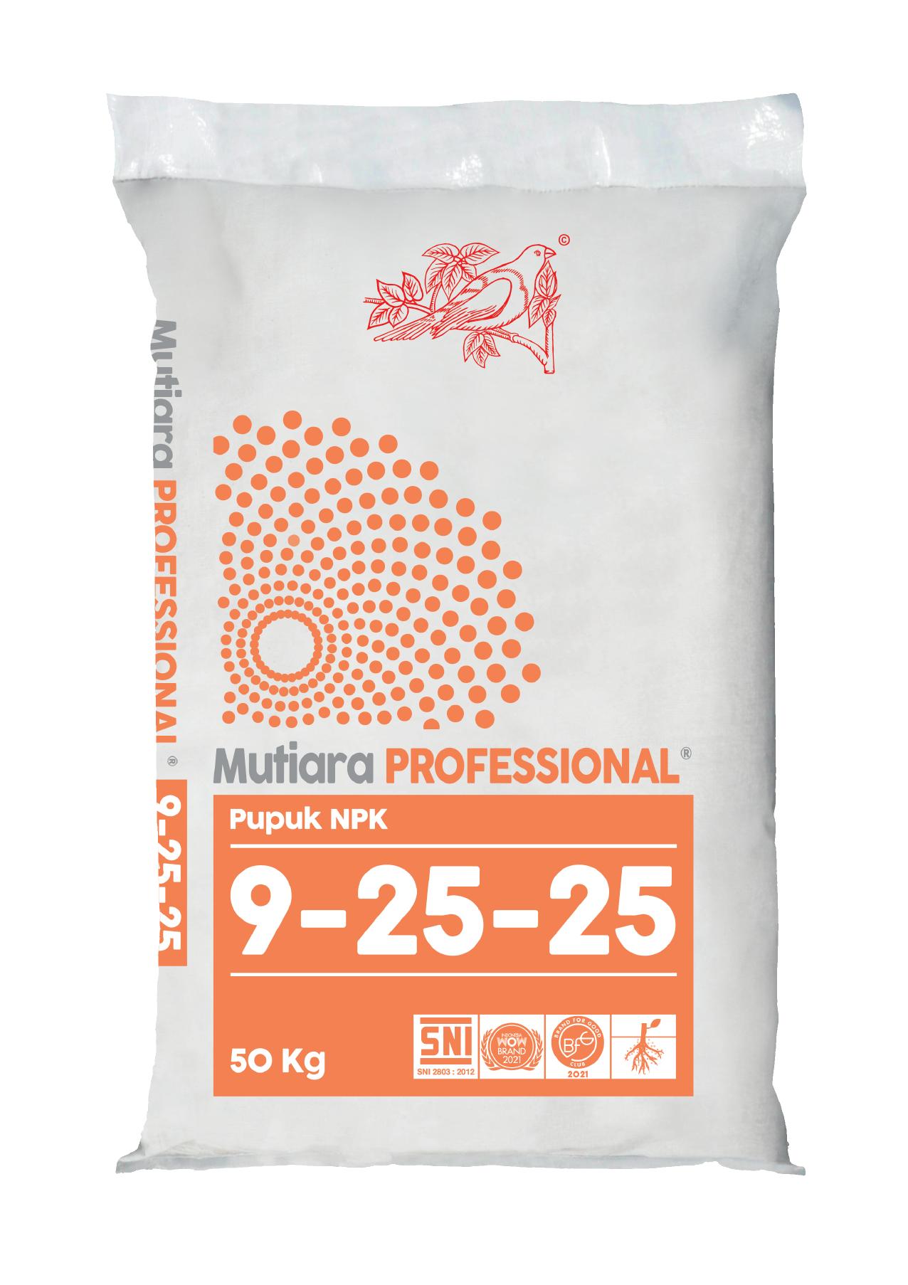 NPK Mutiara PROFESSIONAL 9-25-25